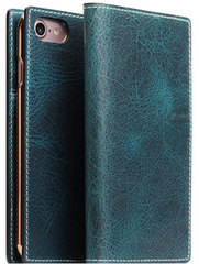 D7 Italian Wax Leather Case - Blue