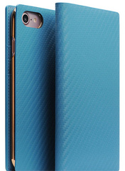 D+ Italian Carbon Leather Case - Blue