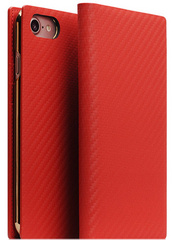 D+ Italian Carbon Leather Case - Red