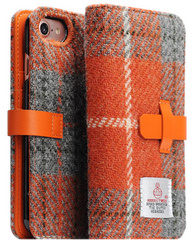 D5 Special Edition X Harris Tweed Case - Gray/Orange  (iPhone 7/8)