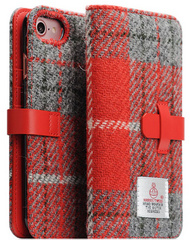 D5 Special Edition X Harris Tweed Case - Gray/Red  (iPhone 7/8)