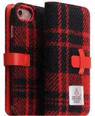 D5 Special Edition X Harris Tweed Case - Black/Red  (iPhone 7/8)