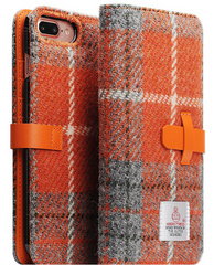 D5 Special Edition X Harris Tweed Case - Gray/Orange (iPhone 7/8 Plus)