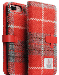 D5 Special Edition X Harris Tweed Case - Gray/Red (iPhone 7/8 Plus)