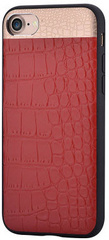 Comma Croco Leather Case for iPhone 7/8 - Red