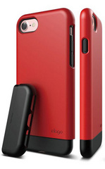 Elago S7 Glide for iPhone 7 - Extreme Red / Black