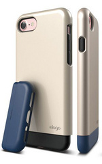 Elago S7 Glide for iPhone 7 - Champagne Gold / Jean Indigo
