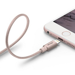 Aluminum Lightning Cable for Sync & Charge - Rose Gold