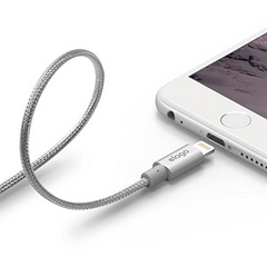 Aluminum Lightning Cable for Sync & Charge - Silver