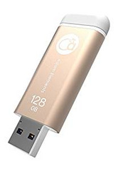iKlips 128GB Lightning / USB 3.0 Dual-Interface Flash Drive - Gold