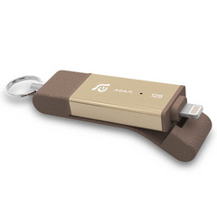 iKlips DUO 128GB Lightning / USB 3.1 Dual-Interface Flash Drive - Gold