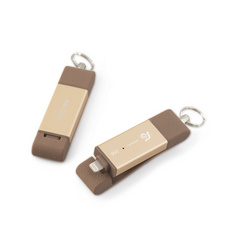 iKlips DUO 256GB Lightning / USB 3.1 Dual-Interface Flash Drive - Gold