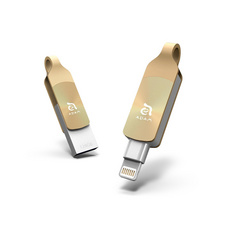 iKlips DUO + 32GB Lightning / USB 3.1 Dual-Interface Flash Drive - Gold