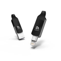 iKlips DUO + 64GB Lightning / USB 3.1 Dual-Interface Flash Drive - Black