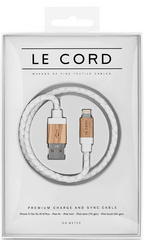 Le Cord White Leather/Light Wood - 40 cm