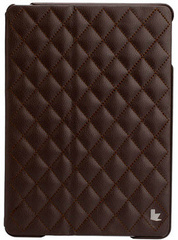 Quilted Leather Smart Case for iPad Air - Brown