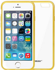 Jison Case Flexible Cover Skin Case for iPhone 6/6S with TPU - Yellow