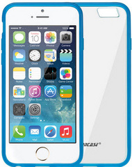 Jison Case Flexible Cover Skin Case for iPhone 6/6S with TPU - Blue
