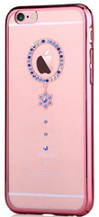 Crystal Camelia Rose Gold Case - Blue Diamond