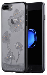 Comma Crystal Flora Case for iPhone 7/8 - Black