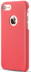 Premium PU Leather Ultra Thin Protective Skin Cover - Red