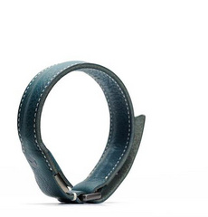 D6 Italian Minerva Box Leather Bracelet Cable - Blue