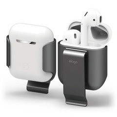 Elago Airpods Carrying Clip - Metallic Dark Gray