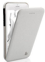 Leather Flip Case - White