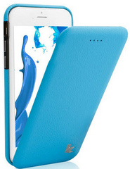 Leather Flip Case - Blue