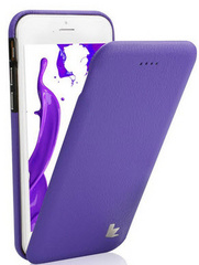 Leather Flip Case - Purple