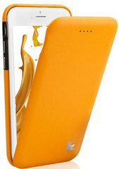 Leather Flip Case - Orange