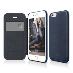 S6 Leather Flip Case - Jean Indigo / Jean Indigo