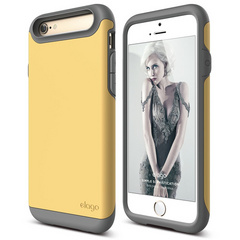 S6 Duro Case - Dark Gray / Creamy Yellow