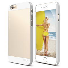 Elago S6 Outfit Case for iPhone 6/6s - White / Champagne Gold