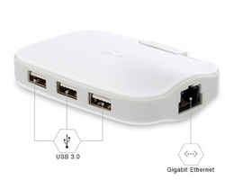 Kanex DualRole Gigabit Ethernet + 3 USB Port