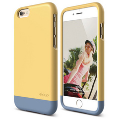 S6 Glide for iPhone 6 - Creamy Yellow / Royal Blue