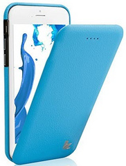 Jison Case Premium Leatherette Case for iPhone 5/5s/SE- Blue
