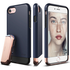 Elago S7 Glide for iPhone 7 - Jean Indigo / Chrome Rose Gold