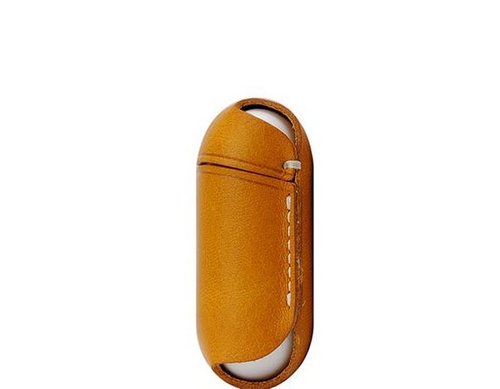 SLG D6 Italian Minerva Box Leather AirPods Pouch - Tan