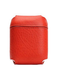 SLG D6 Italian Minerva Box Leather AirPods Pouch - Red