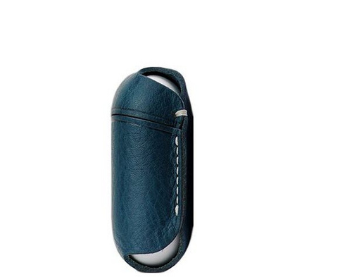 Copy SLG D6 Italian Minerva Box Leather AirPods Pouch - Blue