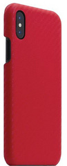 SLG D+ Italian Carbon Leather Back Case for iPhone X - Red
