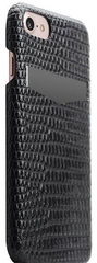 SLG D3 Italian Lizard Leather Back Case for iPhone 8 / 7 - Black