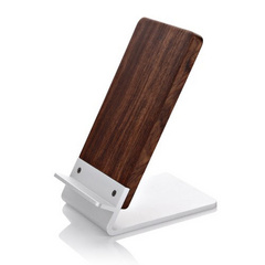 Aluminum Alloy and Rosewood Charging Stand - Brown