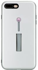 BMT SelfieLOOP case for iPhone 7/8 Plus - Silver/Pink