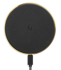 WIWU Quantus Leather Wireless Charger - Black