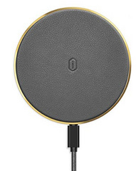 WIWU Quantus Leather Wireless Charger - Gray