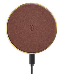 WIWU Quantus Leather Wireless Charger - Brown