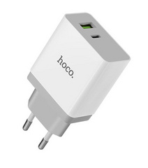Hoco USB + Type-C Wall Charger 3.0A Qualcomm® - Quick Charge