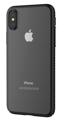 Devia Luxurious Glimmer Case for iPhone X - Transparent/Black